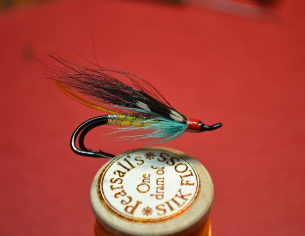 Original Megan Boyd hair wing salmon fly. A special gift from Teddy Patlen