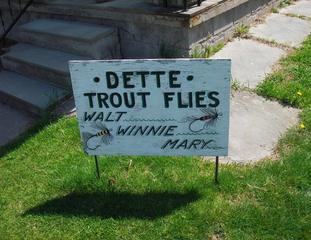 The sign in front of their house in Roscoe